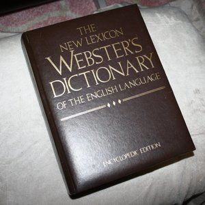 Large 1988 Lexicon Dictionary